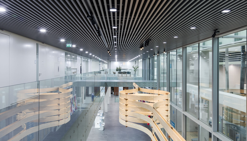 We deliver aluminium ceiling panels for ICC, The Hague